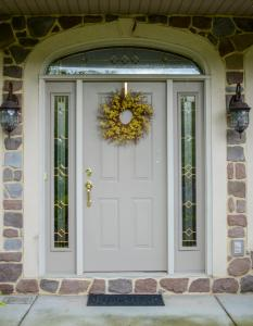 Entry Door with decorative side lites