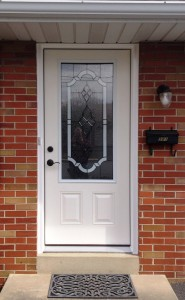Entry Door with 3/4 view decorative glass