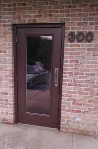 Full lite commercial entry door