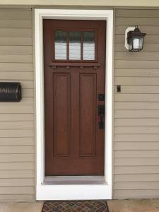 Entry Door with dentil shelf