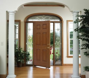 Entry door and side-lites with transom