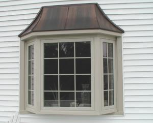 Beige Bay Window with grids